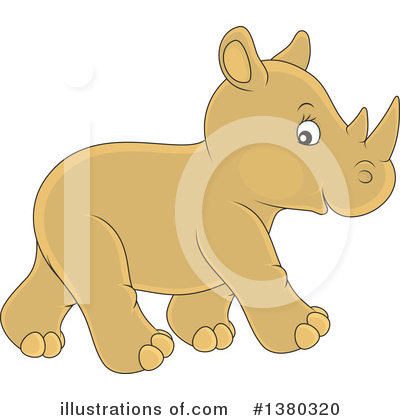 Rhino Clipart #1380320 by Alex Bannykh