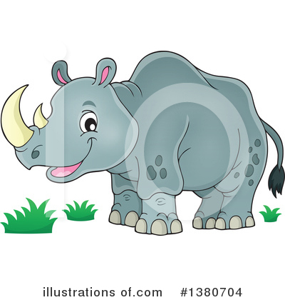 Royalty-Free (RF) Rhino Clipart Illustration by visekart - Stock Sample #1380704