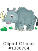 Royalty-Free (RF) Rhino Clipart Illustration #1380704