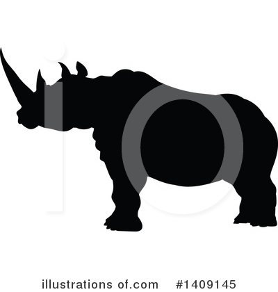 Rhino Clipart #1409145 by AtStockIllustration