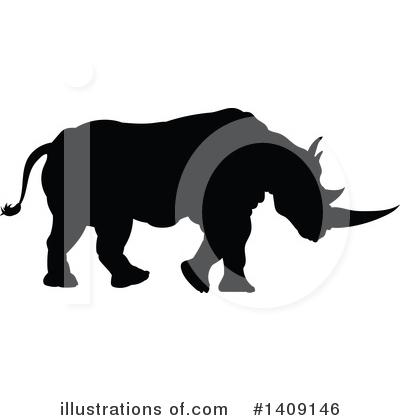 Royalty-Free (RF) Rhino Clipart Illustration by AtStockIllustration - Stock Sample #1409146