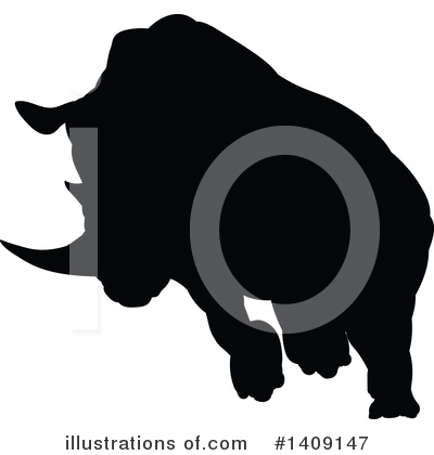 Rhino Clipart #1409147 by AtStockIllustration
