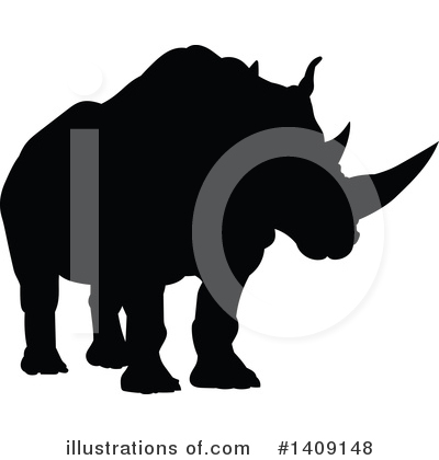 Rhino Clipart #1409148 by AtStockIllustration