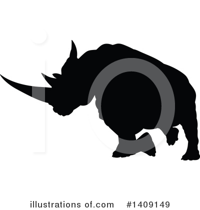 Rhino Clipart #1409149 by AtStockIllustration