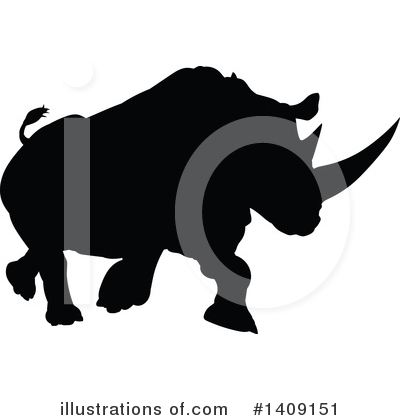Rhinoceros Clipart #1409151 by AtStockIllustration