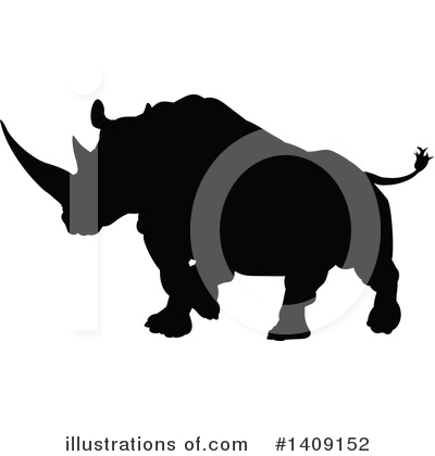 Rhino Clipart #1409152 by AtStockIllustration