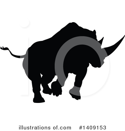 Rhinoceros Clipart #1409153 by AtStockIllustration