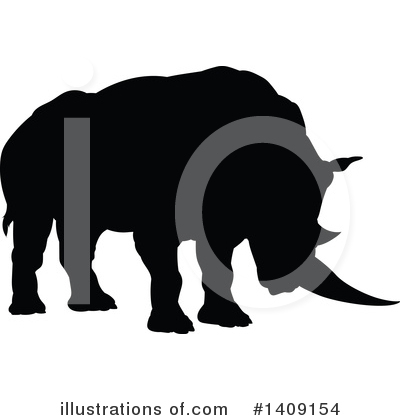 Rhino Clipart #1409154 by AtStockIllustration