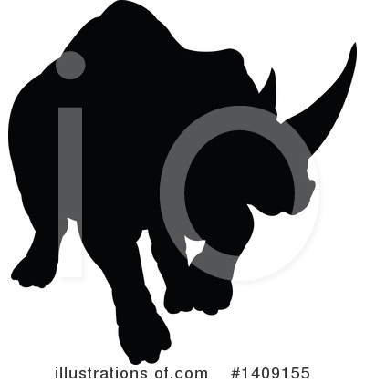 Rhino Clipart #1409155 by AtStockIllustration