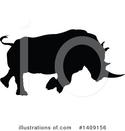 Rhino Clipart #1409156 by AtStockIllustration