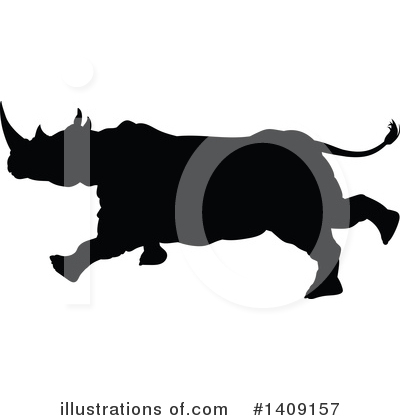 Rhino Clipart #1409157 by AtStockIllustration