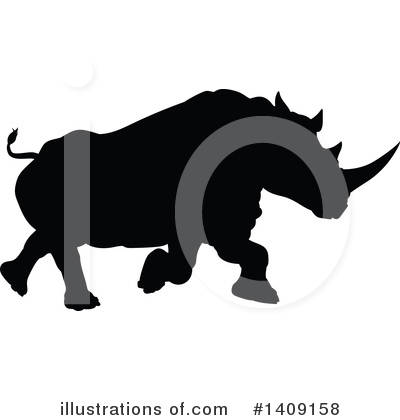 Rhino Clipart #1409158 by AtStockIllustration