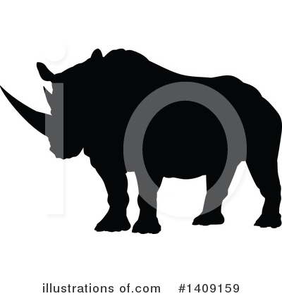 Rhino Clipart #1409159 by AtStockIllustration