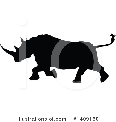 Rhino Clipart #1409160 by AtStockIllustration