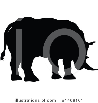 Rhino Clipart #1409161 by AtStockIllustration