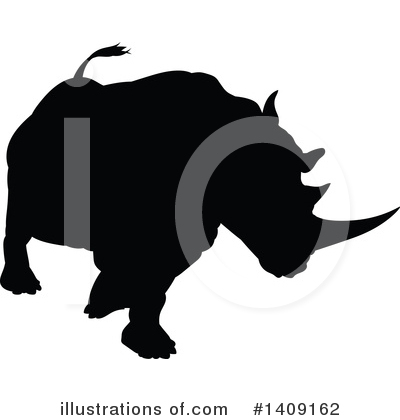 Rhinoceros Clipart #1409162 by AtStockIllustration