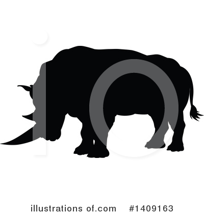 Rhino Clipart #1409163 by AtStockIllustration