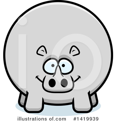 Rhino Clipart #1419939 by Cory Thoman