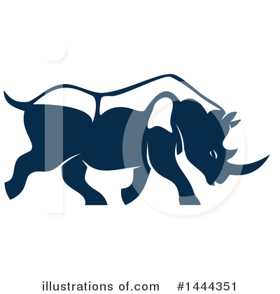Rhino Clipart #1444351 by Vector Tradition SM