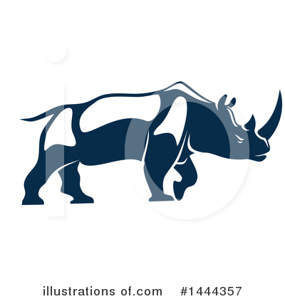 Rhino Clipart #1444357 by Vector Tradition SM