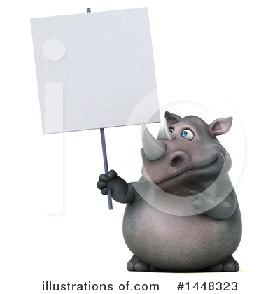 Royalty-Free (RF) Rhino Clipart Illustration by Julos - Stock Sample #1448323