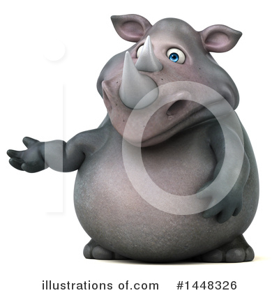 Royalty-Free (RF) Rhino Clipart Illustration by Julos - Stock Sample #1448326