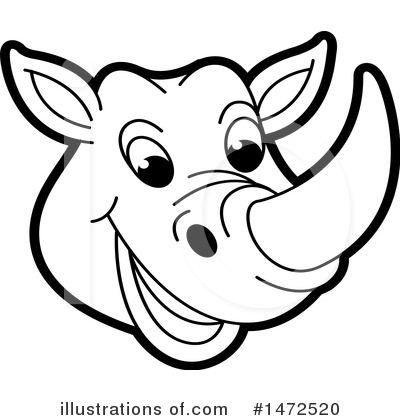 Royalty-Free (RF) Rhino Clipart Illustration by Lal Perera - Stock Sample #1472520