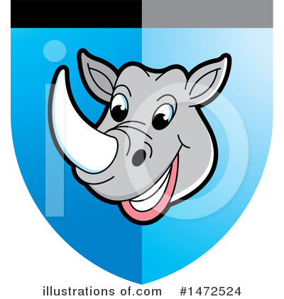 Royalty-Free (RF) Rhino Clipart Illustration by Lal Perera - Stock Sample #1472524