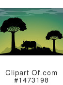 Rhino Clipart #1473198 by Graphics RF