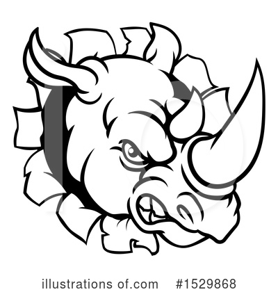 Rhinoceros Clipart #1529868 by AtStockIllustration