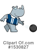 Rhino Clipart #1530827 by Cory Thoman