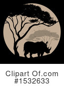 Rhino Clipart #1532633 by Graphics RF