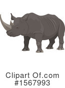 Rhino Clipart #1567993 by Vector Tradition SM