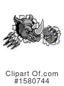 Rhino Clipart #1580744 by AtStockIllustration