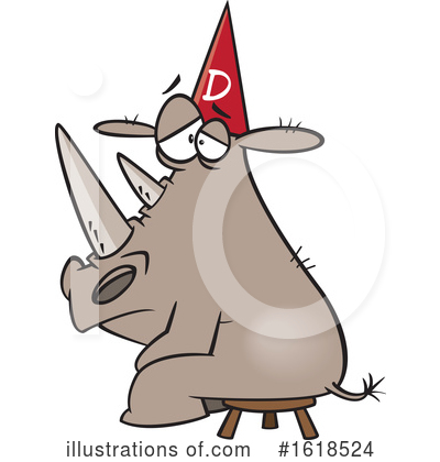 Rhino Clipart #1618524 by toonaday