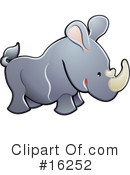 Royalty-Free (RF) rhino Clipart Illustration #16252