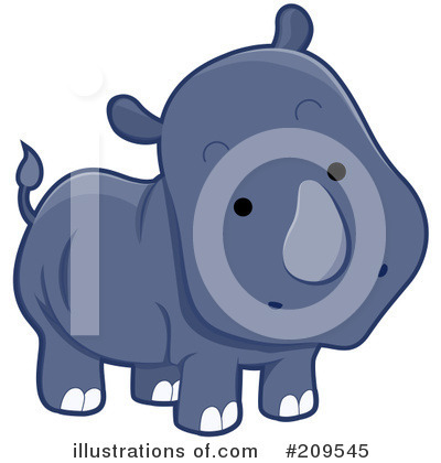 Rhino Clipart #209545 by BNP Design Studio