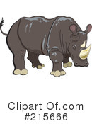 Royalty-Free (RF) rhino Clipart Illustration #215666