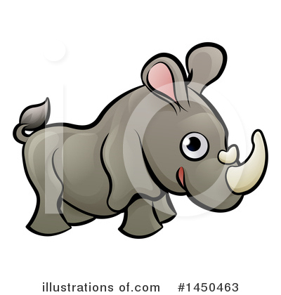 Rhino Clipart #1450463 by AtStockIllustration