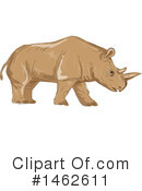 Rhinoceros Clipart #1462611 by patrimonio