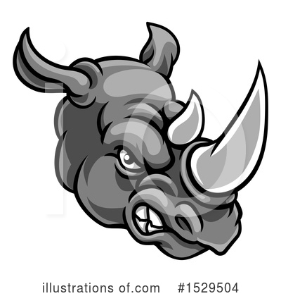 Royalty-Free (RF) Rhinoceros Clipart Illustration by AtStockIllustration - Stock Sample #1529504