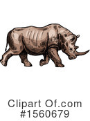 Rhinoceros Clipart #1560679 by Vector Tradition SM
