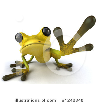 Green Frog Clipart #1242840 by Julos