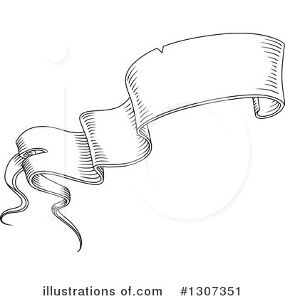 Ribbon Banner Clipart #1307351 by Vector Tradition SM