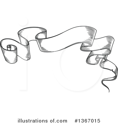 Ribbon Banner Clipart #1367015 by Vector Tradition SM