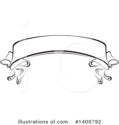 Ribbon Banner Clipart #1400792 - Illustration by dero