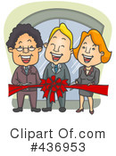 Royalty-Free (RF) Ribbon Cutting Clipart Illustration #436953
