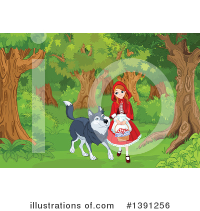 Little Red Riding Hood Clipart #1391256 by Pushkin