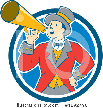 Royalty-Free (RF) Ringmaster Clipart Illustration by patrimonio - Stock Sample #1292498