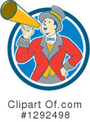 Royalty-Free (RF) Ringmaster Clipart Illustration #1292498
